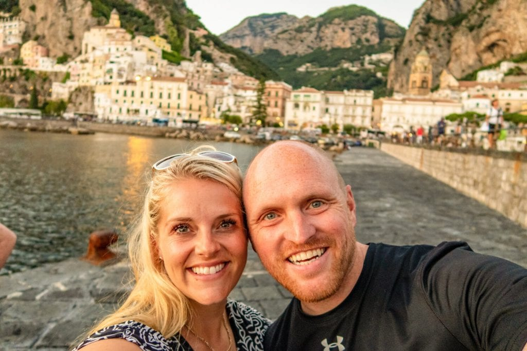 Chris and I on our romantic Italy getaway