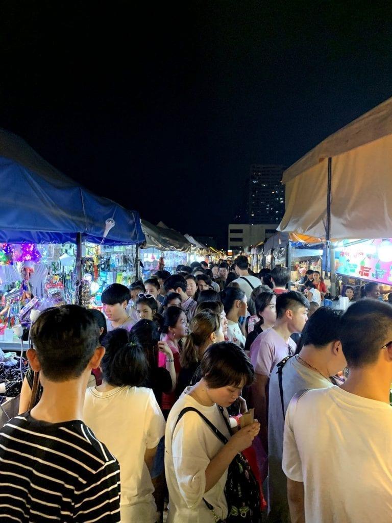 The lines at the Bangkok night markets