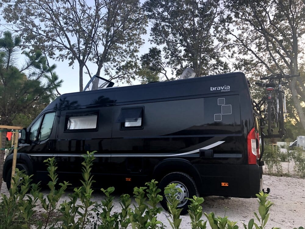 Europe trip- the black van we used to drive throughout the continent