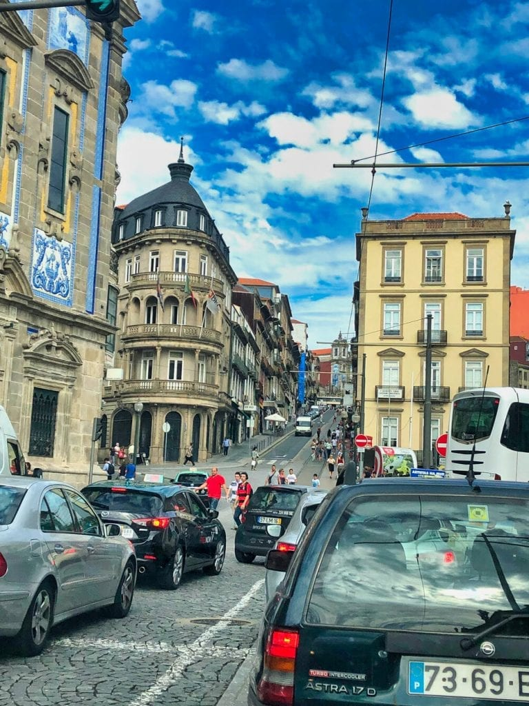 Europe trip- a downtown intersection