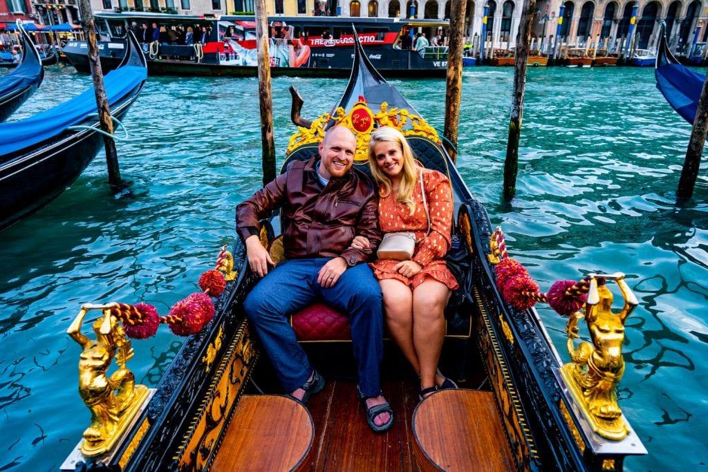 Italy Itinerary- Chris and I on a romantic gondola ride