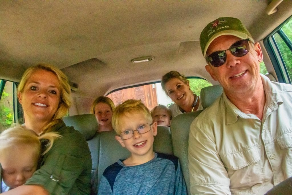 Travel mishaps- my big family crammed into a 7 seater van