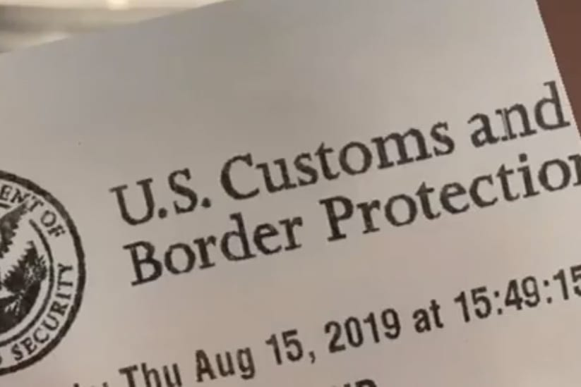 trip to the USA- my customs paper