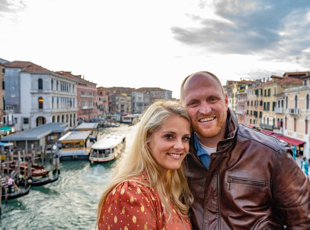 Chris and I during our romantic getaway in Italy