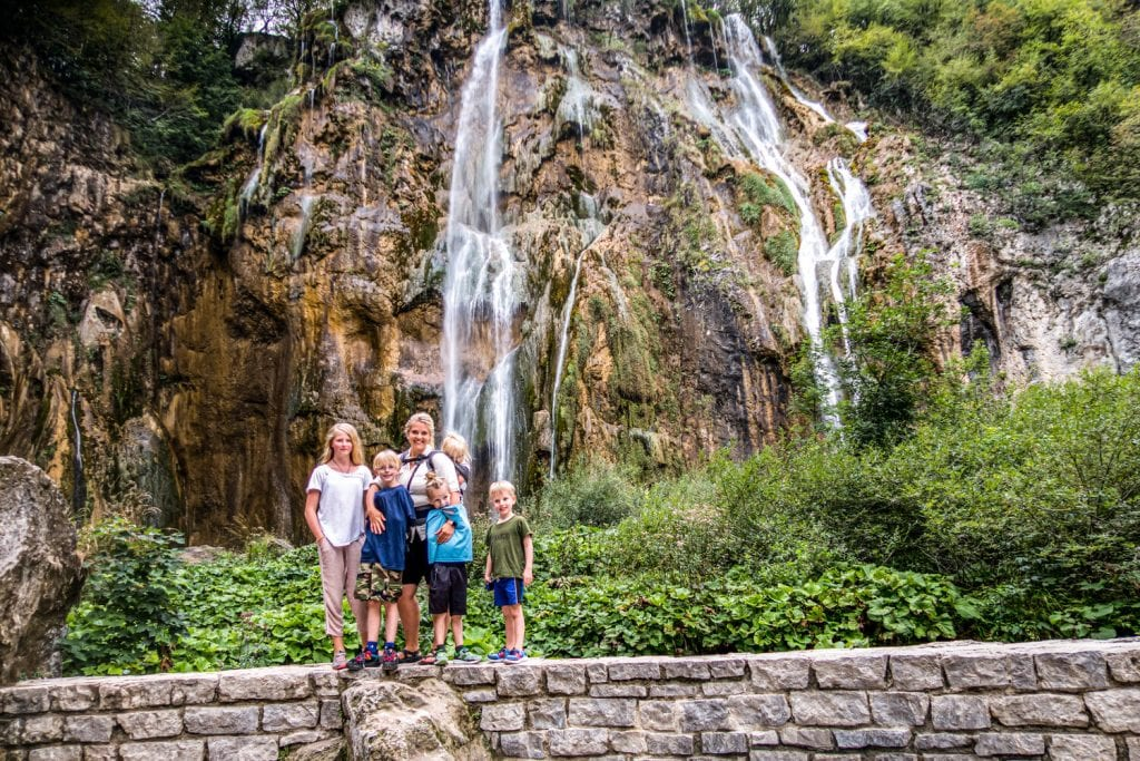 trip around the world- waterfall in Croatia