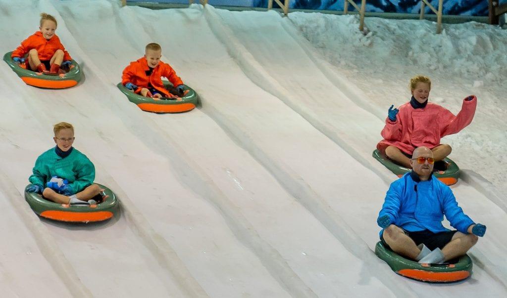 bangkok with kids- a tube slide at dream world