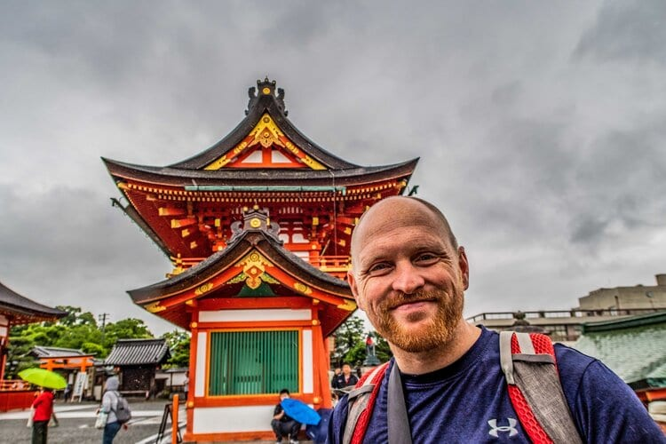 travel funnies- Chris at the Fushimi Inari