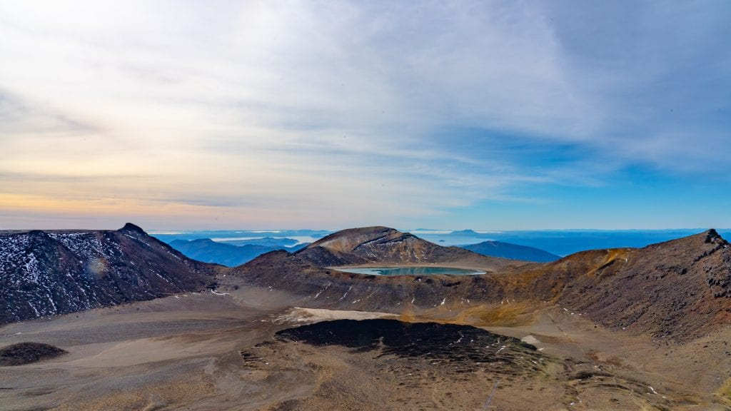 The tops of the Tongariro Alpine Crossing
