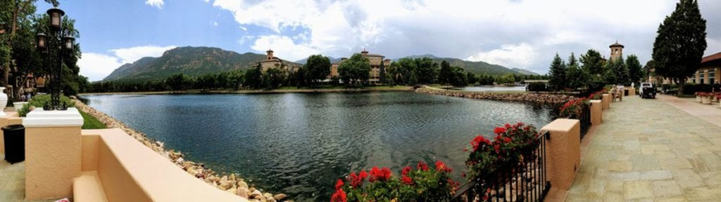 The small lake behind the Broadmoor