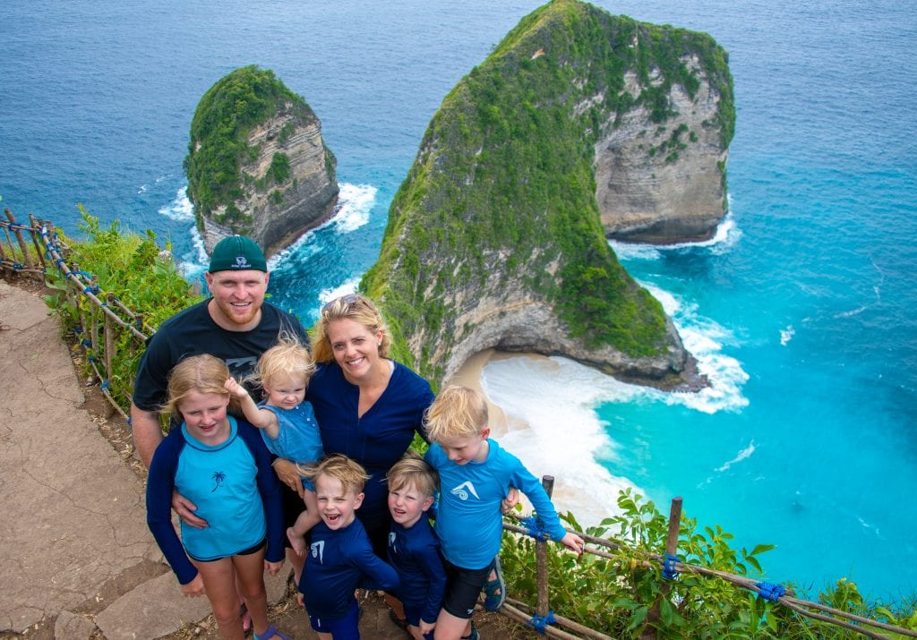 Ocean views in Bali with our kids